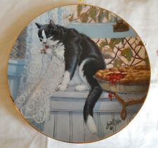 Company'S Coming Plate By Lowell Davis ( Cat Eating A Cherry Pie)