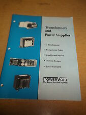 PowerVolt Transformers & Power Supplies 102A 7/95 Catalog *FREE SHIPPING*