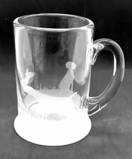 More details for german shorthaired pointer frieze boxed 57cl crystal pint handled tankard