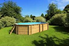 Tropic Octo+ 450 - Octagonal 4.52m x 3.13m Above Ground Wooden Swimming Pool
