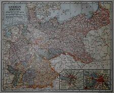 Antique 1918 Atlas Map World War WWI German Empire & Northern Part South America