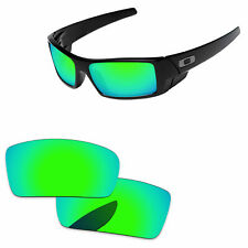 Papaviva azulado Verde Espejo Polarizado Lentes De Reemplazo para Oakley Gascan -