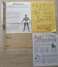 Charles Atlas Information Pack with News Letter. Original Piece. FREE UK POSTAGE