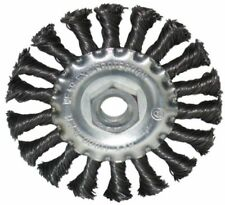 """Twist Knot Wire Brush Wheel Flat 4"""" 100mm For 115mm 4-1/2"""" Rust Remover Grinder"""