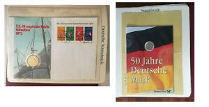 numisbriefe  olympische spiele münchen 1972 n 734 -7 + 50 jahre deutsche mark