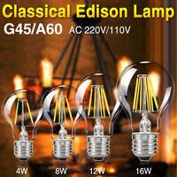 e27 base 4/8/16w 110v/220v retro filament led bulb light novel edison spot lamp