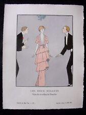 A-E Marty  Les Deux Nigauds Gazette bon ton Noël 1913 pl VII  Doeuillet