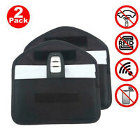 2X Car Key Signal Blocker Case Pouch Bag Faraday Cage Keyless RFID Blocking Bag