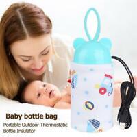 Baby Bottle Warmer Travel Milk Portable Heater Food Feeding Car USB Outdoor
