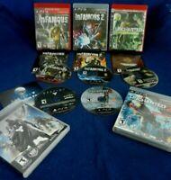 5 PS3;Infamous 1 & 2,Uncharted Drake's,Discs LN,w/Manuals,Uncharted 2,Destiny,VG