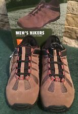 OZARK TRAIL Mens Bungee Hikers ~ Brown ~ Elastic Laces ~ Durable Outsole ~Sz 7.5