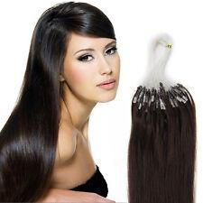 "20"" 100S 200S Remy Human Hair Extensions Easy Loop Micro Ring Bead Tip AAAAAA US"