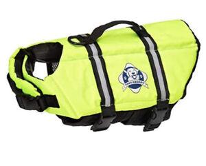 Paws Abroad Dog Neon Yellow Life Jacket XLarge