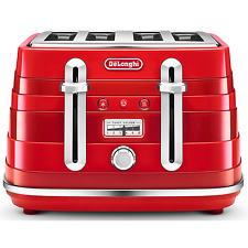 DeLonghi Avvolta CTA4003.R 1800W 4-Slice Toaster - Red
