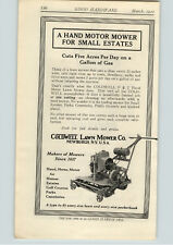 1922 PAPER AD Coldwell Power Lawn Mower Golf Course Parks Estates