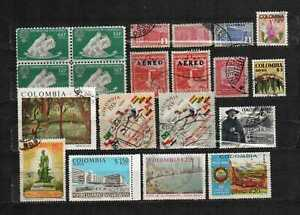 Colombia stamps lot 16 used items in good cond. as seen combine shipping