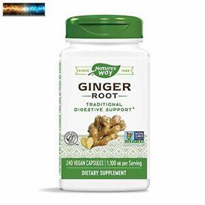 Nature's Way Premium Herbal Ginger Root, 1,100 mg per serving, 240 Capsules