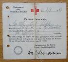 Alter Personalausweis für Sanitäter 1942