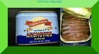 Big Anchovies FLAT Fillets in Oil 793gm 28 OZ Anchovy TASTY! FREE SHIPPING NOW>>