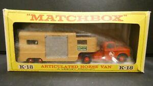 Matchbox Lesney Articulated Horse Van K-18