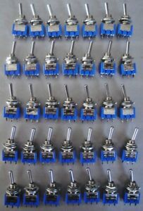 Lot (35) SPDT On-On Toggle Switches Miyama MS-500A made in Japan