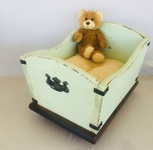 Vintage Doll Baby Crib Made into a Pet / Dog Bed, Unusual, One of a Kind