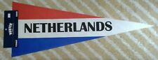 Netherlands Nederland Holland Full Size country Pennant olympics soccer Hup