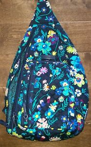 "Vera Bradley Quilted Sling Backpack- ***""Retired Moonlight Garden"""