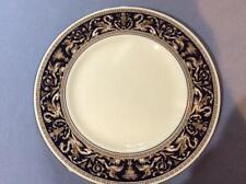 "Wedgwood Cobalt Florentine bone china 10 3/4"" dinner plate W1956 light use"
