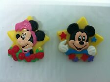 Vintage Disney Mickey and Minnie Mouse Pins by Avon 1989