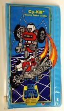 Gobots Enemy Leader Cy-Kill 1 PVC Pencil Pouch Case, Taiwan, 1984 Tonka Corp
