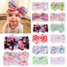Stretch Turban Knot Head Wraps Baby Girl Headband Nylon Bow Hairband Boho Print