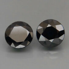 Round 7.5 mm.PAIR! Heated Only! Natural Top Blue Sapphire Africa 4.40Ct.