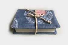 """Blue Handmade Bible Cover (Small 4"""" x 6.2"""")"""