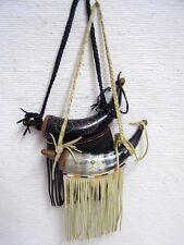 Native American Black Powder Horn - Steer Horn