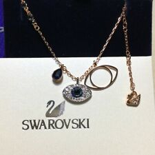 Swarovski DUO Evil Eyes pendant Necklace jewelry