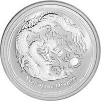 2012 Australia 1/2 oz Silver BU Year of the Dragon in Perth Mint Capsule