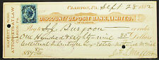 US Check Discount and Deposit Bank Limited Clarion Inter. Rev. USA Scheck H-8149