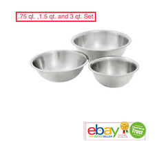 Mixing Bowls 3-Piece / Set Stainless Steel Cook Bakeware, New Kitchenware