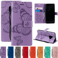 For Samsung S5 S6 S7 S9 Note 8 Leather Flip Wallet Magnetic Card Stand Case Cove