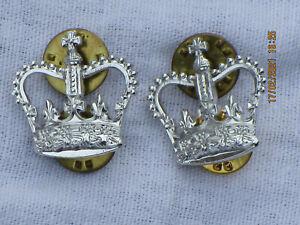 Rank Crowns,Rangkronen,silberfarbig, Größe 22x22mm, 1 Paar,Anodised Aluminium