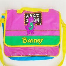 Vintage 1992 Barney the Purple Dinosaur Messenger Shoulder Bag