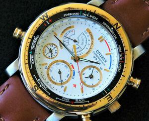 Citizen 6750 Promaster Chronograph Timer Calendar Nautical Yachting     Aqualand