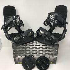 Women's Medium M8trix Snowboard Bindings 4x4, Burton 3D, & EST Black/Silver
