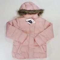 NWT Gap Factory Kids Girls Size XXL 13 Warmest Pink Faux Fur Puffer Coat Jacket