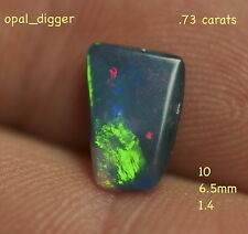 AUSTRALIAN NATURAL SOLID BLACK OPAL N1 BODY TONE CUT JEWELLERY STONE opal_digger