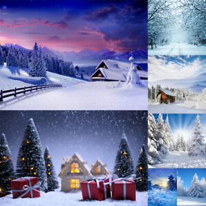 Winter Photography Background Studio Snow Forest Photo Backdrops Wall Art Decor