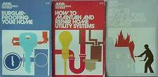 HOME IMPROVEMENT BOOKS (3) 1971-72 (BURGLAR-PROOF, HAZARDS, UTILITY SYSTEMS
