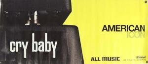 "Jim Dunlop Crybaby American Icon Guitar Dealer Banner 48 1/2"" x 21"""