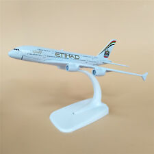 16cm alloy plane model Etihad air bus 380 aircraft A380 airplane white holder
